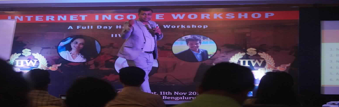 Book Online Tickets for INTERNET INCOME WORKSHOP - BASICS, Bengaluru.    Do you want to know the Secrets of Making Money Online while You are Sleeping? Do you want to create Second Source of Income without Leaving Your Job? Do you want to Earn Money in $$$ while Living in India?If YES, then here is a great Opportu
