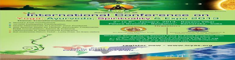 ICYAS -  International Conference on Yoga, Ayurveda and Spirituality - ICYAS  EXPO Jan 2013