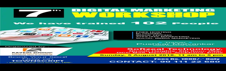 Book Online Tickets for 7th DIGITAL MARKETING WORKSHOP IN PUNE, Pune. 7th Digital Marketing WorkshopIn Pune  रविवारी दिनांक 5 ऑगस्ट 2018  102 प्रशिक्षार्थिना संस्थेच्या माध्यमातून प्र�