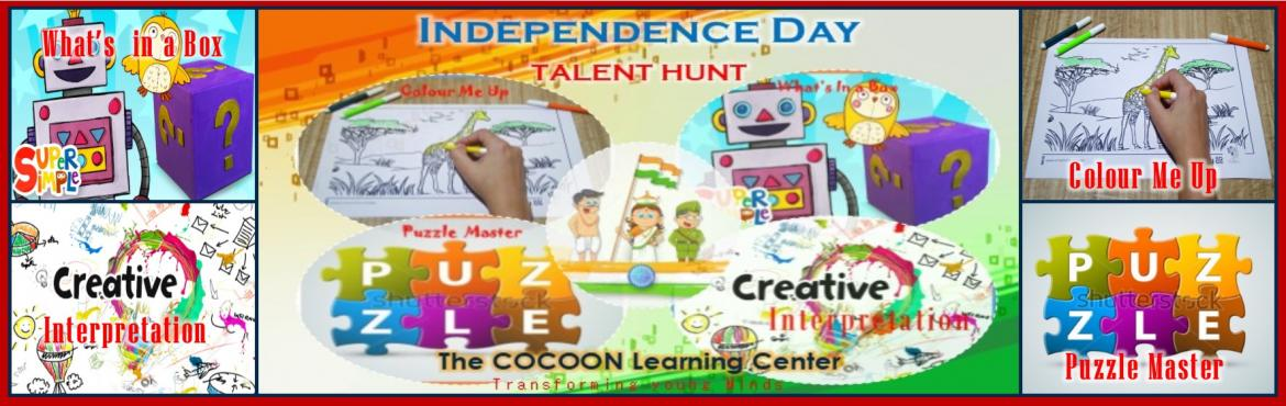 Book Online Tickets for Independence Day 2018 - Talent Hunt, Chennai. The COCOON Learning Center, a multidimentional Skill Development cum Activity Centeris organising Idependence Day 2018 - Talent HuntforChildren.  Date : 18th Aug 2018 @ 4:00 - 6:00 PM 1. Colour Me Up : 2-5 Yrs. 2. Costume Para