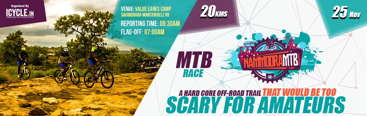 Book Online Tickets for NAMMOORA MTB TROPHY (25-Nov), Awerahalli. NAMMOORA MTB TROPHY The popularity of Great Malnad Challenge, the 7-days, 600+kms MTB ride, was an inspiration behind NMTBT. If GMC is test cricket, then undoubtedly, NMTBT is it's T20 version!Event DetailsDate:25th November, 2018 (Sunday