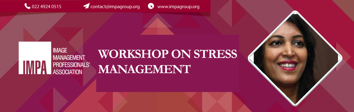 Book Online Tickets for WORKSHOP ON STRESS MANAGEMENT, Ahmedabad. Ritu Mehta, is a Yoga therapist with a post graduate Diploma in Yoga Therapy from Swami Vivekananda Yoga Anusandhana, Bangalore and Diploma in Yoga from Kaivalyadhama, Lonavala. She is a consulting Yoga therapist in Medilink Hospital and is involed i