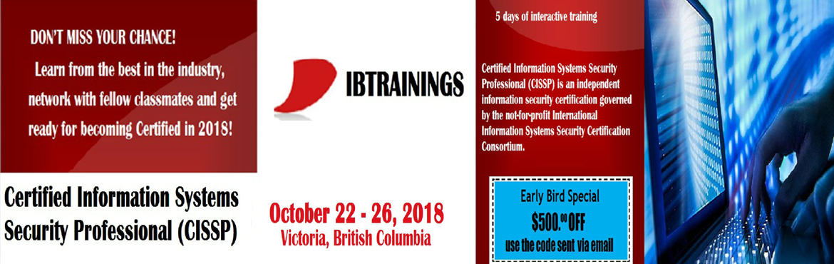 Book Online Tickets for Certified Information Systems Security P, British Co. Certified Information Systems Security Professional Certification Course Event Name       : Certified Information Systems Security Professional Certification CourseVenue                :&nbs