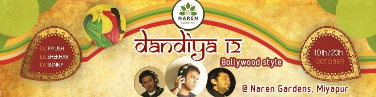 Book Online Tickets for Disco Dandiya with DJ Piyush @ Naren Gar, Hyderabad. Dandiya in a new AVATAR – Bollywood Dandiya @ Naren Gardens, Miyapur.  Gear up to dance to Bollywood songs this Dussera. Dress up in traditional finery and groove to the music of   DJ Piyush, Shekar Sunny   as they belt out popul