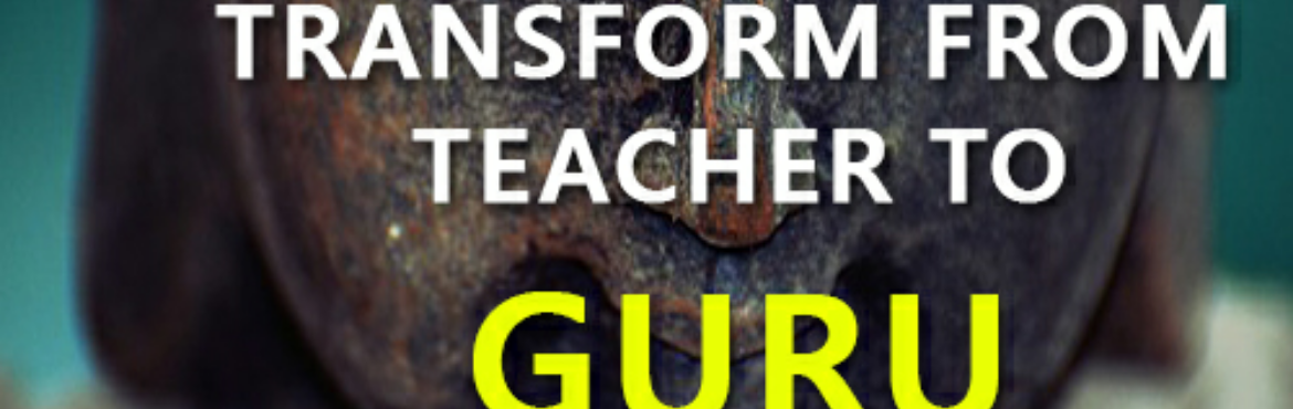 "Book Online Tickets for Transform from Teacher to GURU, Mysore. The Key Takeaways of this program:  The concept of ""Guru"" in modern education How to lead by example? Difference between a teacher and a Guru Progress from an informer to a transformer Quantitative and qualitative approaches in teaching."