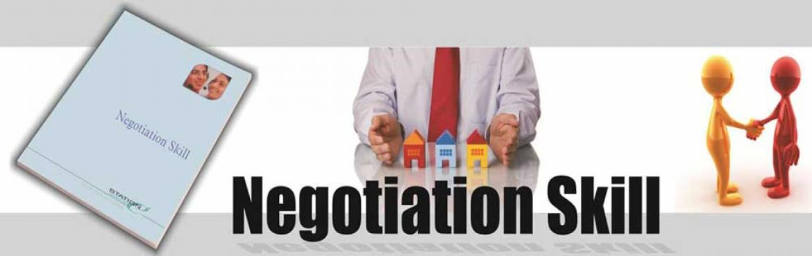 Book Online Tickets for Negotiation Skills , Mumbai. Negotiation is the principal day-to-day activity of most professionals. Negotiation occurs in business, non-profit organizations, legal proceedings, among nations and in personal situations in everyday life. Every corporate professional whether worki