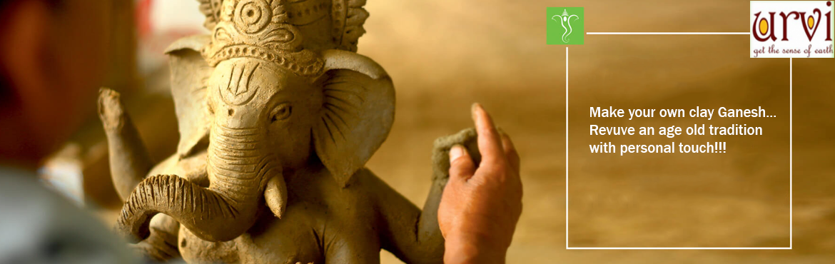 Book Online Tickets for MAKE YOUR CLAY GANESHA..., Hyderabad. MAKE YOUR CLAY GANESHA, A workshop by \'Urvi Terracotta\' This Ganesh Chaturthi say NO to Ganesha made up of plaster of paris and say YES to eco-friendly idols that are made up of clay. Lets pass on traditional practices to next generation. Let
