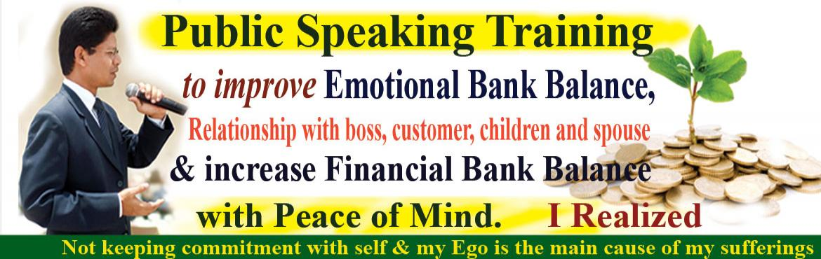 Book Online Tickets for Public Speaking Training to improve Emot, Hyderabad. To convert my knowledge into earnings I should be emotionally sound. Emotion plays a vital role in our life. If I am doing what is right for me to achieve my financial goal in spite of all the emotional turmoil, I become emotionally intelligent. I re