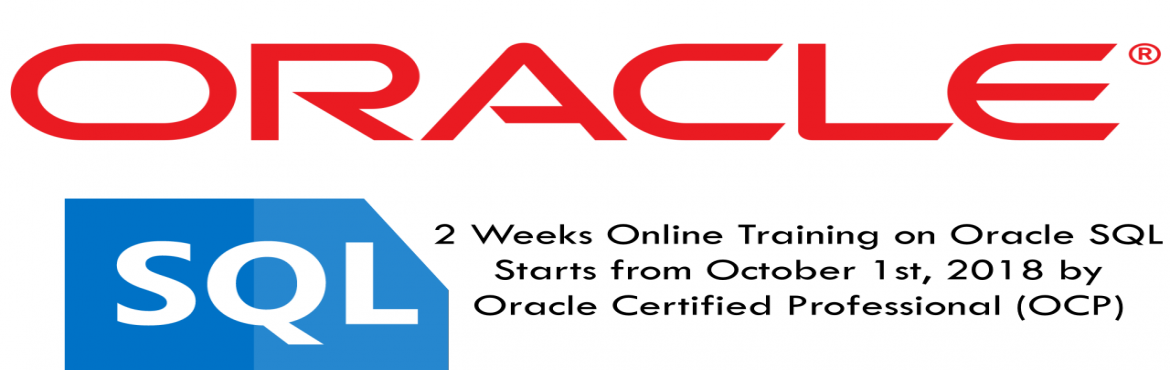 Book Online Tickets for Learn ORACLE-SQL in 2 weeks @unbelievabl, Hyderabad. Batch1: 6:00 AM to 7:00 AM IST Batch2: 3:00 PM to 4:00 PM IST Learn ORACLE-SQL in 2 weeks from an OCP (Oracle Certified Professional) at a very discounted rate..  Who Can Attend?  ********************* Freshers/IT Professionals/Business Ana