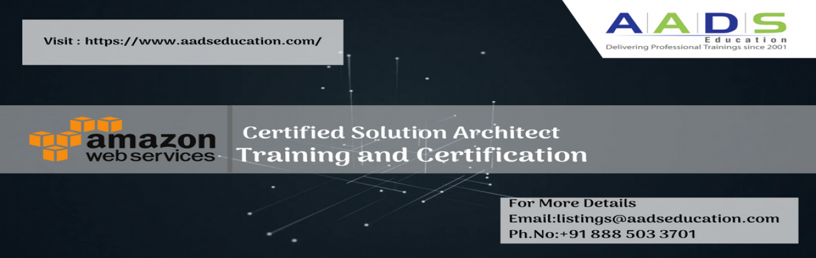 Book Online Tickets for AWS Certified Solution Architect Associa, Pune. nroll now for AWS Certified Solution Architect Associate Training to learn the best practices and AWS-recommended architectural principles to leverage AWS services, infrastructure for your projects and clients. By enrolling in this training pro