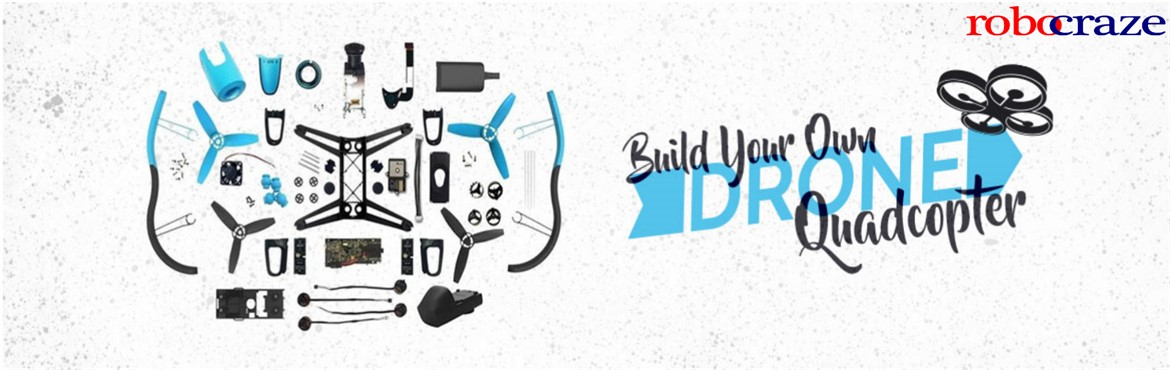 Book Online Tickets for Build your own Drone (Quadcopter), Hyderabad. 'Build Your Own Drone' workshop is back with a bang! A quadcopter is a multirotor helicopter that is lifted and propelled by four rotors. Every participant will be given their own drone kit (cost included in ticket price) which they will