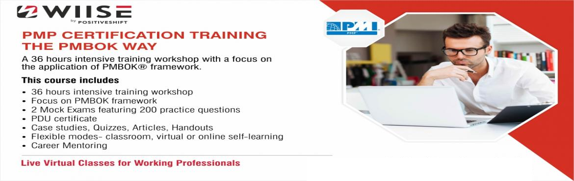 Pmp Certification Training Course The Pmbok Way Hyderabad