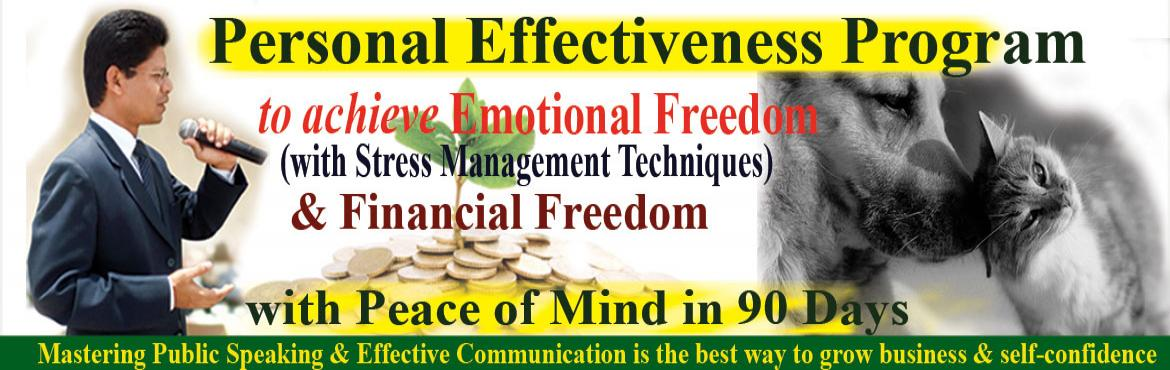 Book Online Tickets for Free Public Speaking Program to achieve , Hyderabad. I invite you to experience the Emotional Freedom Techniques and art of developing Public Speaking Skills to achieve Financial Freedom in 90 days. To convert my knowledge into earnings I should be emotionally sound. Emotion plays a vital role in our l