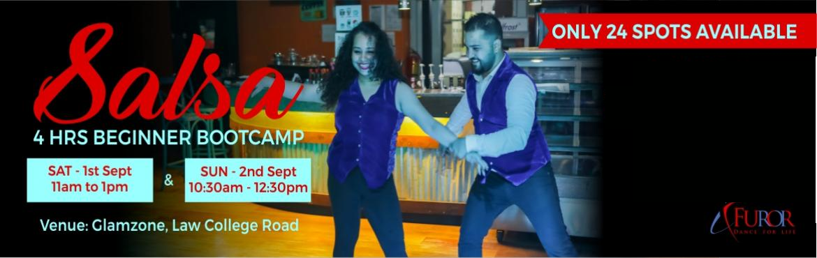 Book Online Tickets for SALSA BEGINNER 4 HOURS BOOTCAMP | 1st an, Pune. Salsa Beginner Bootcamp for the the month of September is here!!! This time in Law College Road on popular demand... We bring back this super fun way to start your journey as a Salsa dancer. Learn the basic steps (partnerwork & footwork), turns (