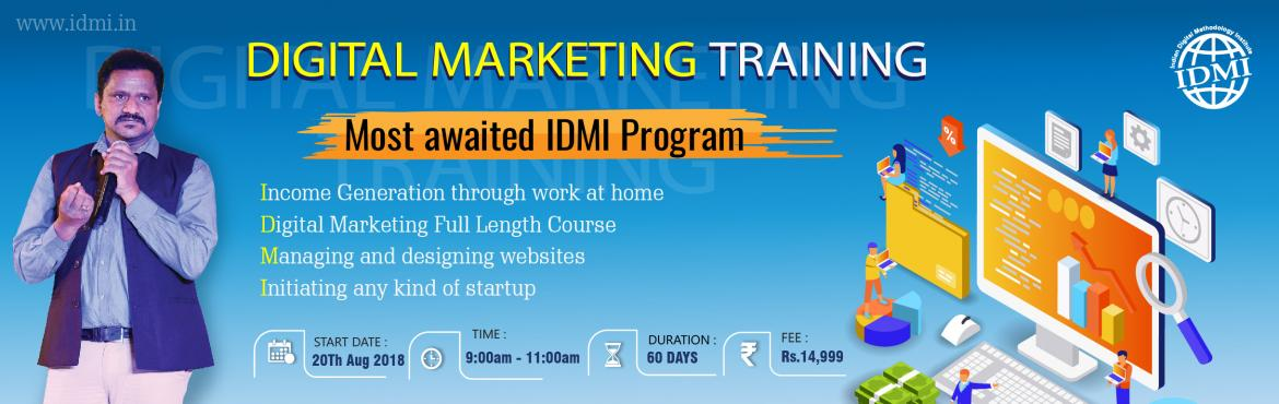 Book Online Tickets for Digital Marketing Training - Most awaite, Hyderabad.  Who will get the Benefit? ---------------------------------   Students Housewives  Startups Web designer/developers Marketing Professionals    Trainer Explanation on Career Path Career View-----------------Three Paths1) To be an