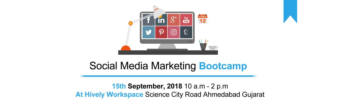 Book Online Tickets for Social Media Marketing Bootcamp, Ahmedabad. The Social Media Marketing Bootcamp is an Exclusive Workshop for Entrepreneurs to Discover Everything they Need to Know to leverage the Power of Social Media Marketing to Successfully Grow their Business Online.Here is What you will learn:-➤ What e