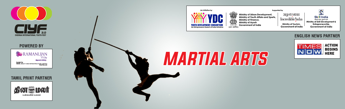 Book Online Tickets for CIYF Silambattam, Chennai.  Who can Participate  Individual, Anyone between 16-32 years old.  Rewards  Winner - INR 2000  Runner - INR 1000  Medals and Certificates  *Date and venue will be Announced soon  Prize Distribution Cere