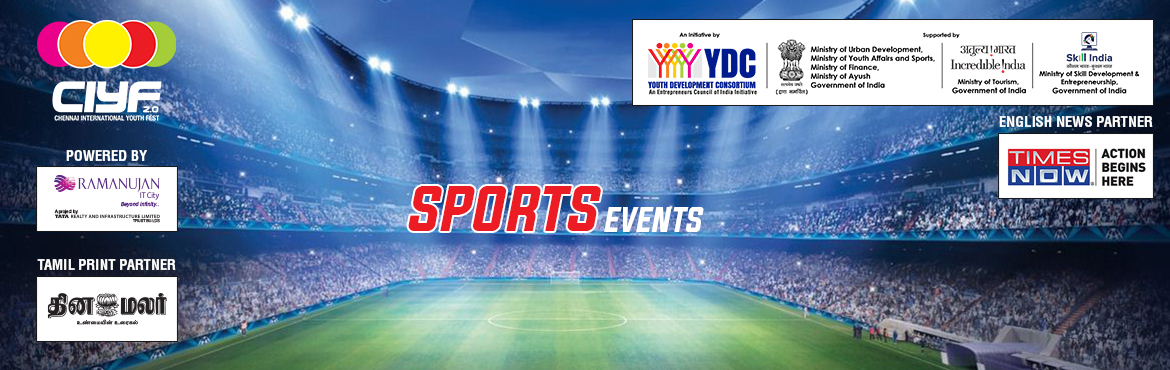Book Online Tickets for CIYF Cricket, Chennai.    Who can Participate  Team, Anyone between 16-32 years old.  Rewards  Winner - INR 5000  Runner - INR 3000  Trophy, Medals and Certificates  Registration Fee  INR 1500/- per Team  Da
