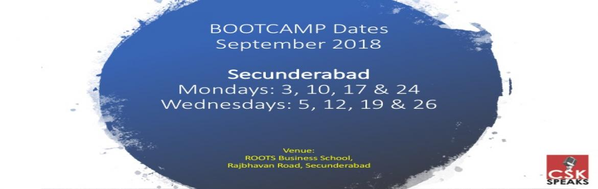 Book Online Tickets for BOOTCAMP - Effective Public Speaking for, Hyderabad. Welcome to Effective Public Speaking BOOTCAMP.Secunderabad (Mondays and Wednesdays)   What is this BOOTCAMP about? 1. A public speaking and leadership training that comes with a fixed duration2. Specifically designed for children from 8 - 18 yea