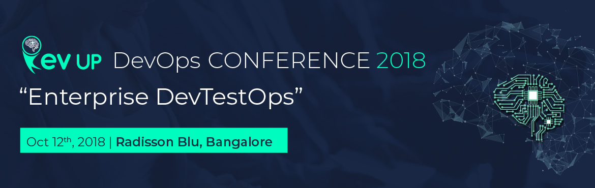 Book Online Tickets for Rev Up DevOps Bangalore, 2018, Bengaluru. DevOps in practice has created newer opportunities as well as posed several challenges in the recent years at enterprise level. One of manychallenges is sustaining quality while keeping up with the demand to deliver superior business value iterativel