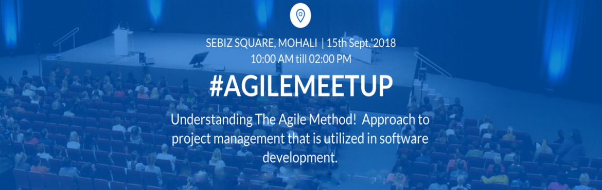 Book Online Tickets for Its all about Agile, Mohali.   Agile software development refers to a group of software development methodologies based on iterative development, where requirements and solutions evolve through collaboration between self-organizing cross-functional teams. Agile methods or A