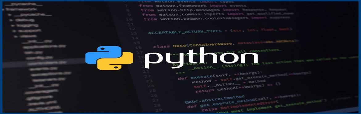 Book Online Tickets for One Week Certification Workshop in Pytho, Hyderabad.   Course at a Glance:-     Module to be covered: Python Core and Advanced Total Training Hours: 20 hrs Timeline: 5 Weekdays (Evening Sessions) and 2 Weekends (Morning Session) Monday to Friday - 7PM to 9PM Saturday, Sunday - 11AM to 2P