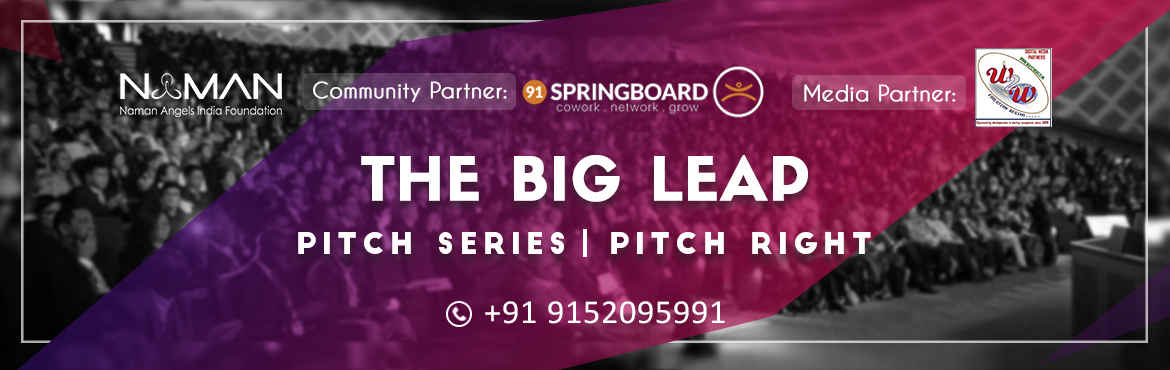 Book Online Tickets for THE BIG LEAP-PUNE, Pune.    What is Big Leap? Big Leap is a series of mock sessions, happening every 20 days with a live funding final showdown at the end of 40 days, across various cities and locations in India to enable and empower startups of the country. This is a u