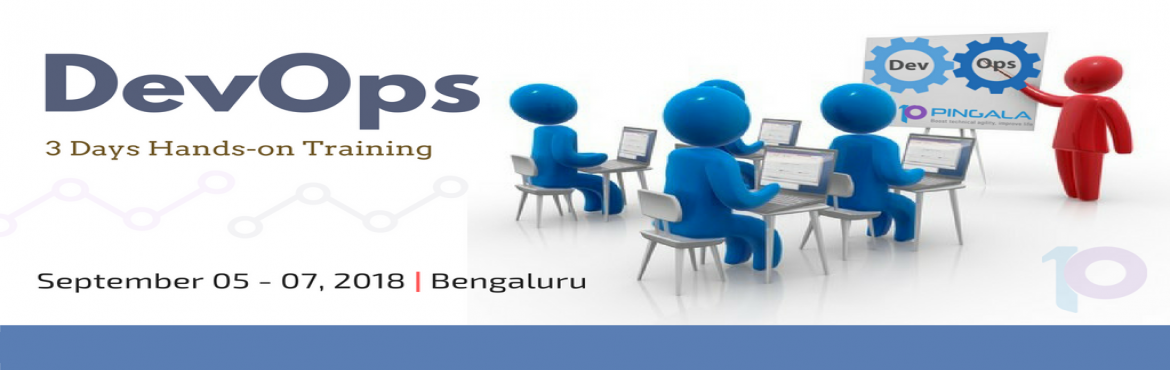 Book Online Tickets for DevOps Hands-on Training in Bengaluru, Bengaluru. Pingala Software proudly announces its upcoming complete Hands-On DevOps Trainins in Bengaluru.  DevOps: 05th - 07th Sep 2018 (3 days classes) – Bengaluru  To know more about our courses/trainin