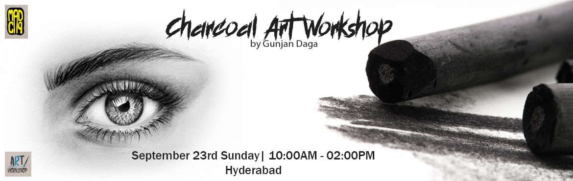 Book Online Tickets for Charcoal Art Workshop by Gunjan Daga on , Hyderabad. Gunjan Daga (@gunjandaga_arts) is a 27 year old Artist based out of Kolkatta. She is a commerce graduate but her passion lies in art. She believes that having not attended any formal art school has given her self confidence and the ability to grow in