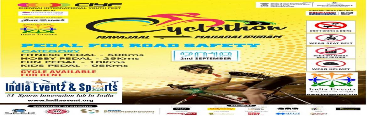 Book Online Tickets for CIYF - INDIA EVENTZ - Cyclothon 2018, Chennai. Truly, the bicycle is the most influential piece of product design ever.                          &n