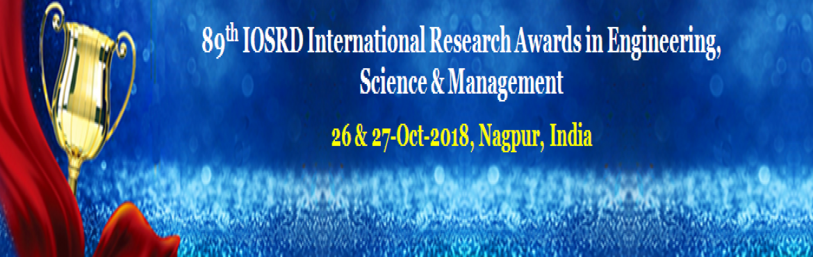 Book Online Tickets for 89th IOSRD International Research Awards, Nagpur. The IOSRD – International Organization of Scientific Research and Development instituted the scheme of Research Award with the aim of distinguishing Researchers of extraordinary Promise and creativity who have made notable research co