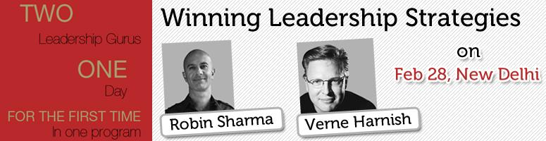 Book Online Tickets for Winning Leadership Strategies with Robin, NewDelhi. About the program: TheWinning Leadership Strategiesis an intimate, leader-to-leader learning experience that\\\'s designed for a select group of high-level leaders like you. The program gathers twoof the world\\\'s most celebrate
