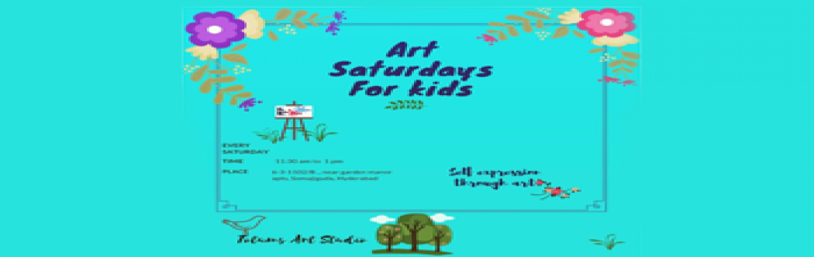 Book Online Tickets for Art Saturdays for kids, Hyderabad. Art Saturdays are all about self-expression through painting. Kids learn that feelings and emotions are normal and that emotional awareness helps in expressing oneself better. The sessions are guided by a Holistic psychologist, Saher Ali