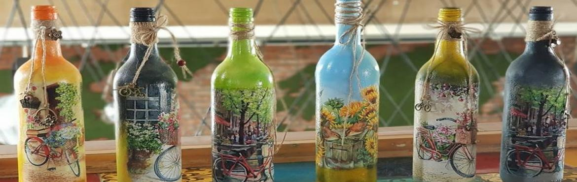 Book Online Tickets for Wine Bottle Decoupage Workshop, Bengaluru. Decoupage- the art of decorating objects using paper, You will learn to decoupage on glass wine bottle. lets up cycle the bottles using this techniques. Once you learn the techniques you can change many objects as per your choice.This one day w