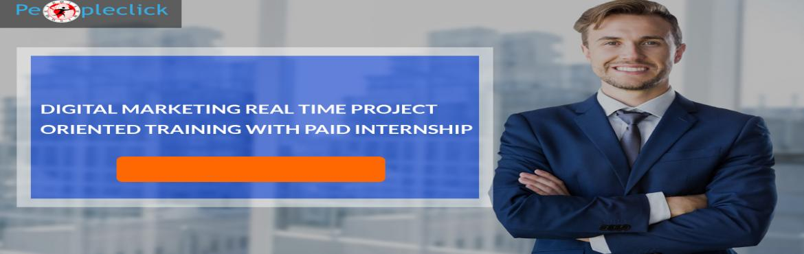Book Online Tickets for Digital Marketing Live Project Workshop, Bengaluru. Join the best Digital Marketing Training in Bangalore at Peopleclick Techno Solutions. Take our Digital Marketing Certification with #Paid #internship. Get 100% placement assistance. Our highly experienced faculties are committed to carve out the dig