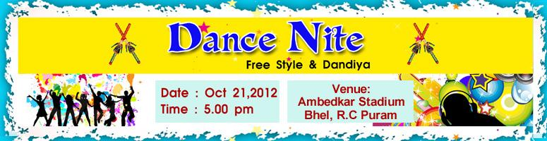 Book Online Tickets for Dance Nite 2012, Hyderabad. Dance Nite 2012 - Free style & Dandiya: