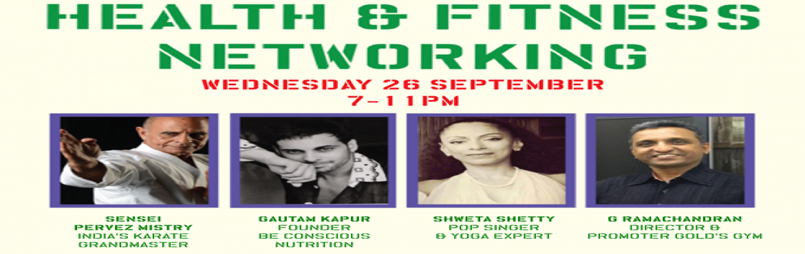 Book Online Tickets for Be Conscious Health and Fitness Networki, Mumbai. 26th Aug'18 Mumbaikars will gently overdose on fitness & Nutrition, Whats better in the rainy season then to meet & greet with indoor and outdoor celebrity health professionals in their own right and ambassadors of their individua