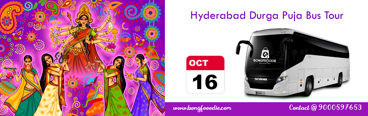 Book Online Tickets for Hyderabad Durga Puja Parikrama 2018 - Sa, Hyderabad.  It\'s that time of the year again. The mesmerizing beats of the dhak are getting ready to steal your heart, new clothes are all set to make their dazzling appearance and the diet chart is about to be locked up and forgotten for 4 days.We invite you