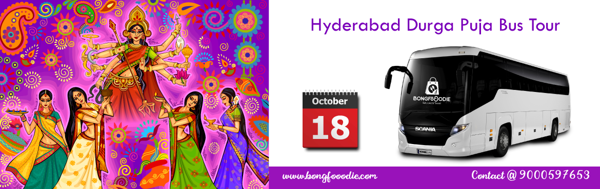 Book Online Tickets for Hyderabad Durga Puja Parikrama 2018 - Na, Hyderabad.  It\'s that time of the year again. The mesmerizing beats of the dhak are getting ready to steal your heart, new clothes are all set to make their dazzling appearance and the diet chart is about to be locked up and forgotten for 4 days.We invite you