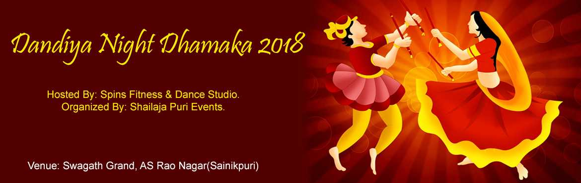 Book Online Tickets for Dandiya Night Celebrations, Hyderabad.  FAMILY FUN DANDIYA NIGHT CELEBRATIONS-2018 Event Includes: 1) 8th September to 05th October Dance Choreography practice (Burn Calories). 2)Unlimited Food. 3)Dandiya And Garbha With Instructors (Direct Walk-in Dance Spontaneously ). 4) Shopping