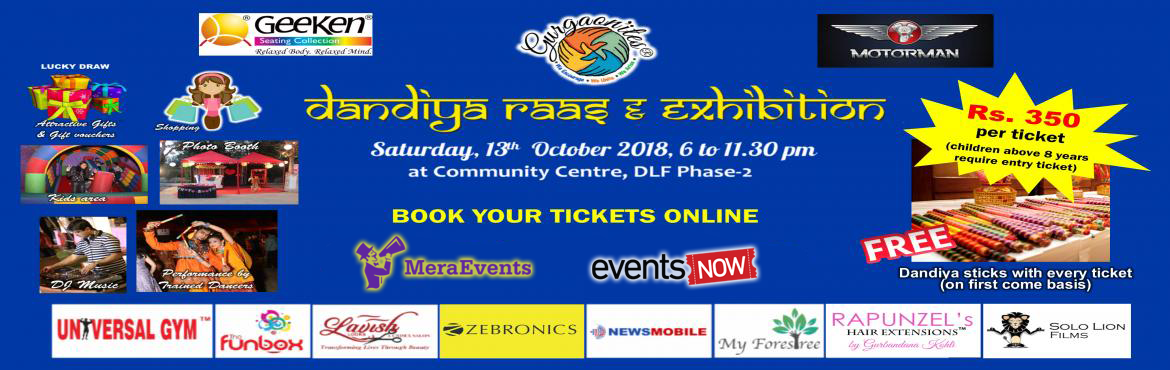 Book Online Tickets for Dandiya Raas and Exhibition Edition 4 by, Gurugram. Gurgaon\'ites® Dandiya Raas & Exhibition, Edition 4 is back with the most dhamakedar event in Gurgaon!!Get yourself ready to pick up your ghagra cholis & kedios, traditional jewellery and get on the dance floor to swirl to the beats