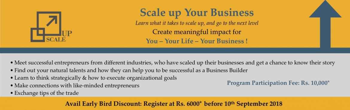 Book Online Tickets for Business Scale Up Workshop, New Delhi. Learn what it takes to Scale up your business and go to the next level! Mark Zuckerberg once said, \'the only strategy that is guaranteed to fail is not taking risks'. But you as a Business Builder knows what it really means, because going forw
