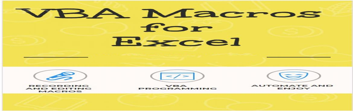Book Online Tickets for Learn Excel VBA Macros in a Weekend - Up, Hyderabad. Learn how to automate Excel quickly in 10 hours of fast track training from our real time experts. -Live examples and follow along exercises to quickly understand how to write code for automation. -Case studies to apply the learning on real