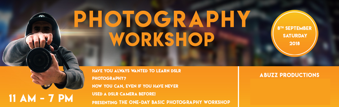 Book Online Tickets for Photography Workshop, Pune. The workshop consists of the following elements:  Introduction to Digital Photography Basics of a Camera and How It Works Basics of DSLR Camera Settings With Practical Hands-on Training Shooting in Manual Mode  Aperture Shutter Speed ISO   Impac