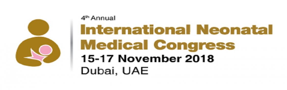 Book Online Tickets for 4th Annual International Neonatal Medica, Dubai.   The 4th Annual International Neonatal Medical Congress is taking place from 15 – 17 November, 2018 in Dubai, UAE. This congress has been designed to address most of the burning issues in the field of neonatal medicine. The congress