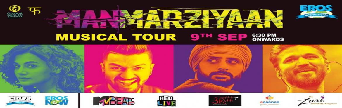Book Online Tickets for Manmarzyaan Musical Tour , Bengaluru. Abhishek Bachchan,Taapsee Pannu&Vicky Kaushalare coming from the screen to Bangalore only atPhoenix Marketcity Bangalorealong withAmit Trivedito give you a memorable musical tour of Manmarziya