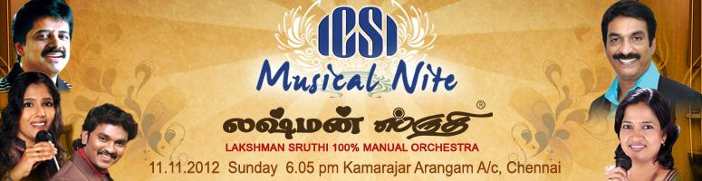 Book Online Tickets for ICSI Musical Nite, Chennai. ICSI established the Company Secretaries Benevolent Fund (CSBF) in the year 1976 which seeks to create big security umbrella to derive comfort and Security for Members and their dependents.The Fund is a society registered under the Societies Registra