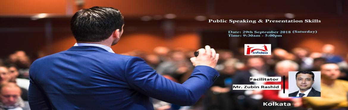 "Book Online Tickets for 1 Day Workshop on Public Speaking and Pr, Kolkata. Somers White had said, ""90% of how well the talk will go is determined before the speaker steps on the platform."" Infidea's One-Day program on 'Public Speaking & Presentation Skills' covers core areas and fundamental"