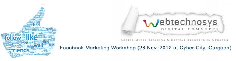 Facebook Marketing Workshop (26 Nov. 2012 at Cyber City, Gurgaon)