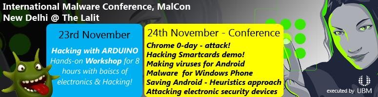 MALCON 2012 - International Malware Conference